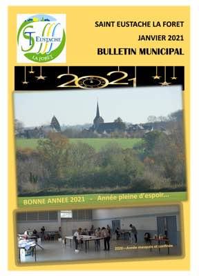 Couverture Bulletin Municipal – Janvier 2021